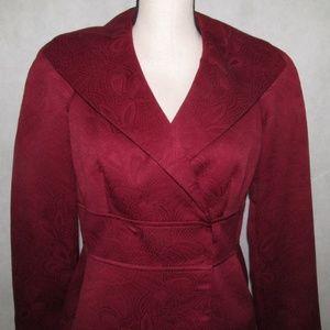 Liz Claiborne Suits Red Skirt Suit size 8 NWT